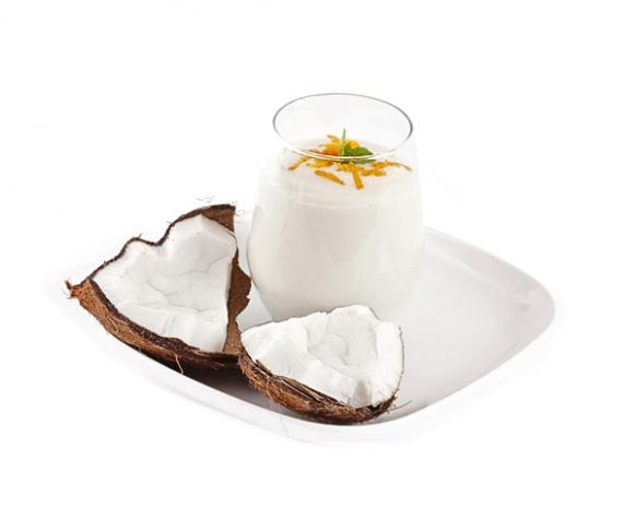 Dezert s příchutí kokosového ořechu se sladidly