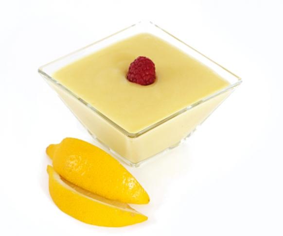 Pudink s příchutí citrónu v prášku, se sladidly
